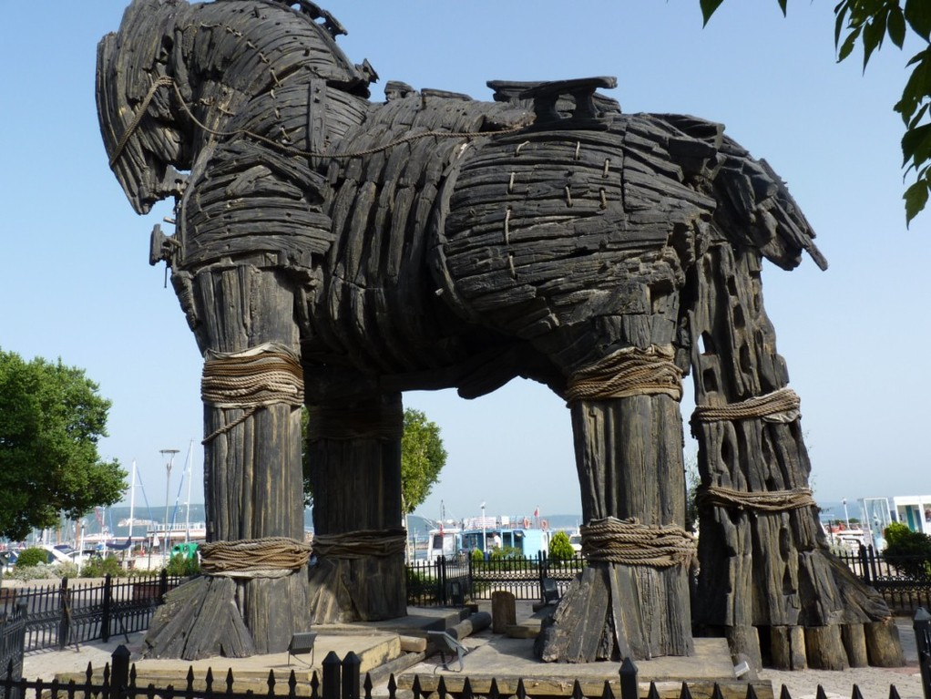Cheval de Troie à Canakkale.