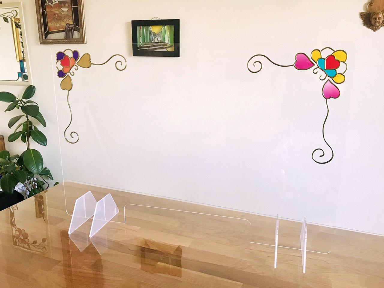 「どんな風に作ったの?」の疑問にお答えします!グラスアートのアクリルパーテーション☆