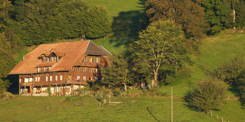 Das Neuhaus in der Abendsonne