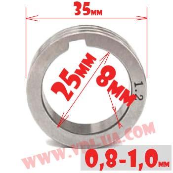ролик полуавтомата 0,8-1,0мм 35Х25Х8