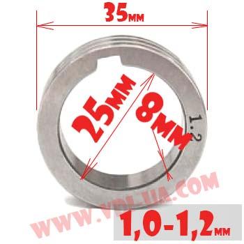 ролик полуавтомата 1,0-1,2мм 35Х25Х8