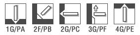 Позиции для сварки AS-P 308