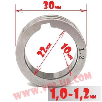 ролик полуавтомата 1,0-1,2мм 30Х22Х10