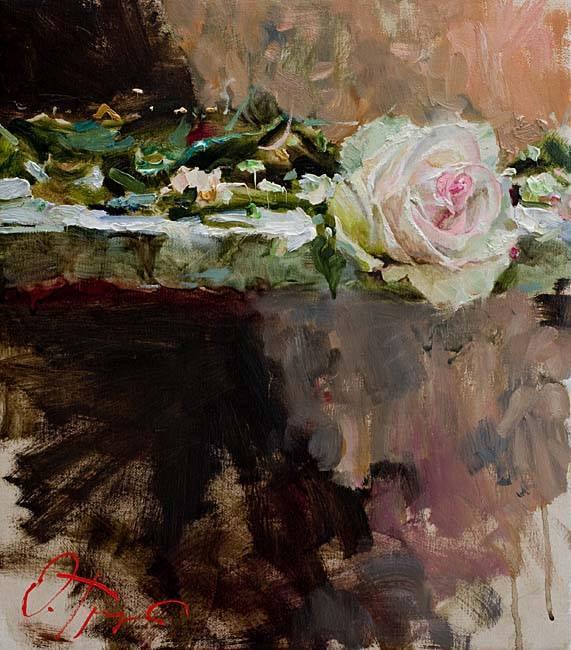 """""""Mon emblème, est la Rose, sa délicatesse au caractère féminin, ses joyeux colories aux couleurs de l'amour, rouges et roses, au doux parfum et aux senteurs subtils, habillée d'une fraîche rosée matinale.""""  Ecrits : Philippe Rousseau"""