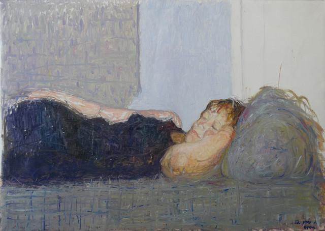 Le repos – Jacques Truphémus 2001 huile sur toile – 92 x 65 cm