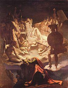Le Songe d'Ossian, Poéme ou   l'œuvre peinte d'Ingres