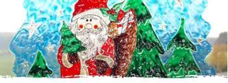 Window Color Bild Weihnachtsmann