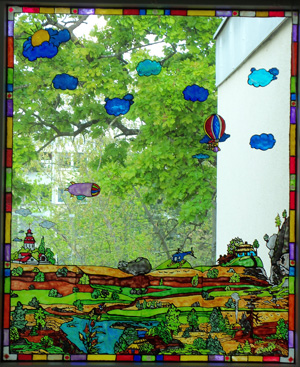 Fenster bemalt mit Window Color Farbe