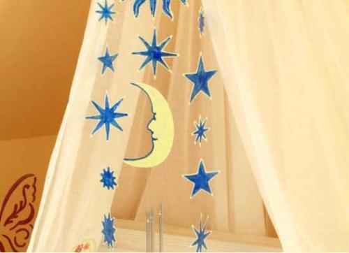 Window Color Mobile - Sonne, Mond und Sterne