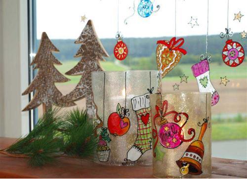 Weihnachtliches Window Color Fenster