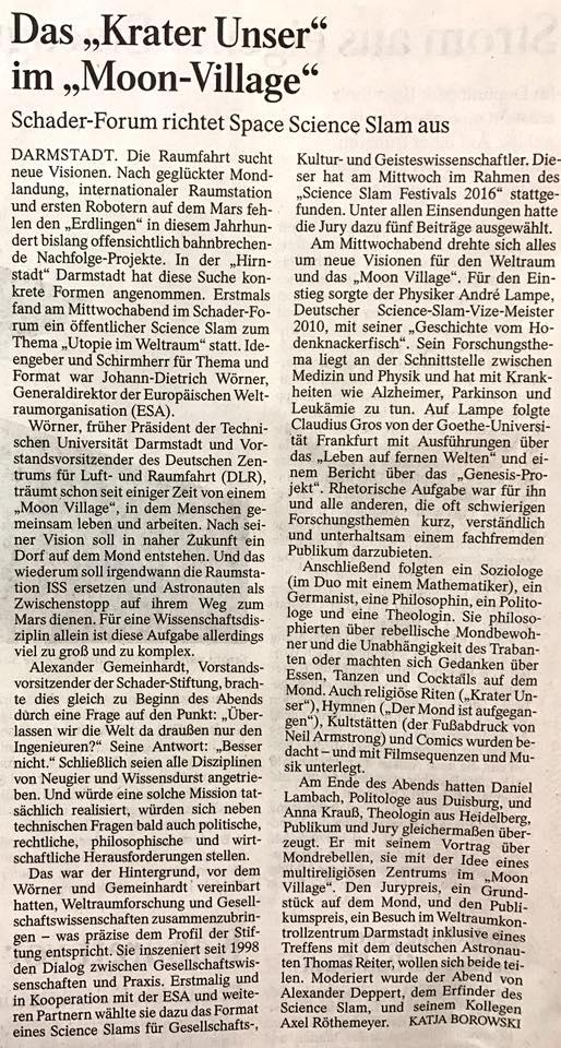 Frankfurter Allgmeiene Zeitung 16.12.2016
