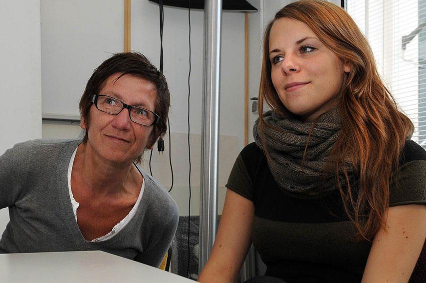Susanne Günther & Ann Christine Freuwörth im Studio