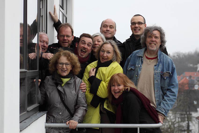 Gruppenbild bei Exkursion nach Dessau