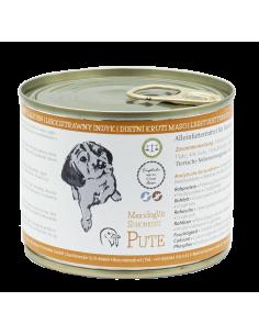 MaxidogVit® Schonkost mit Pute ist genau das Richtige für empfindliche Hunde, ältere Hunde, Allergiker und Hunde mit Magenproblemen.