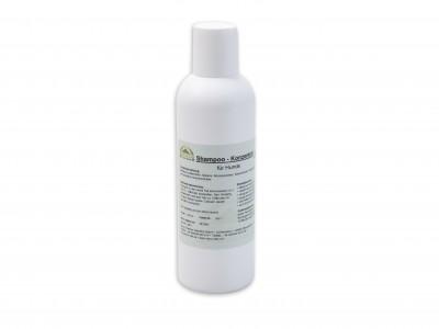 Verwenden Sie ausschließlich Hundeshampoos, da Shampoos für Menschen Hunden schaden.