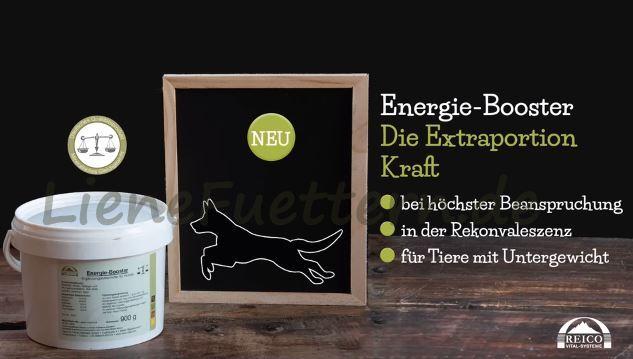 Reico Energie-Booster liefert dank reinen Rinderfetts sehr viel Energie und eignet sich daher besonders für Tiere, die eine Extraportion Kraft benötigen, wie zum Beispiel nach körperlicher Anstrengung oder Rekonvaleszenz.