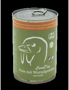 Bio Nassfutter für Hunde CuraDog Pute, empfehlenswert bei Hunden mit Stoffwechselstörungen und Allergien.