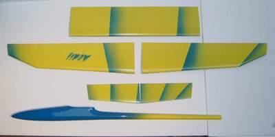 Aldij Aeromod jaune-bleu clair - Extrados