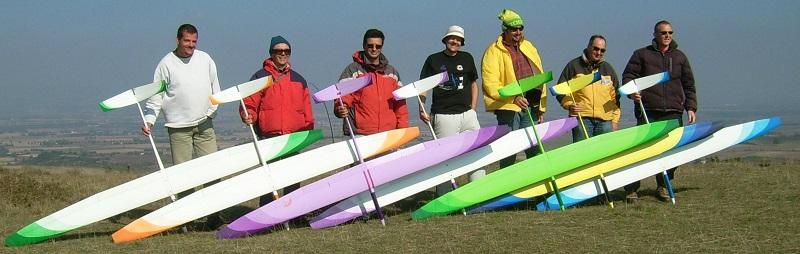 7 pilotes avec leurs Alliajs HM Aeromod