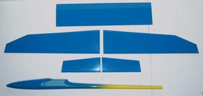 Aldij Aeromod jaune-bleu clair - Intrados