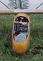 planeur Miraj Aeromod blanc orange - dans le nez