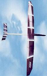 planeur Aldij Aeromod blanc violet en vol
