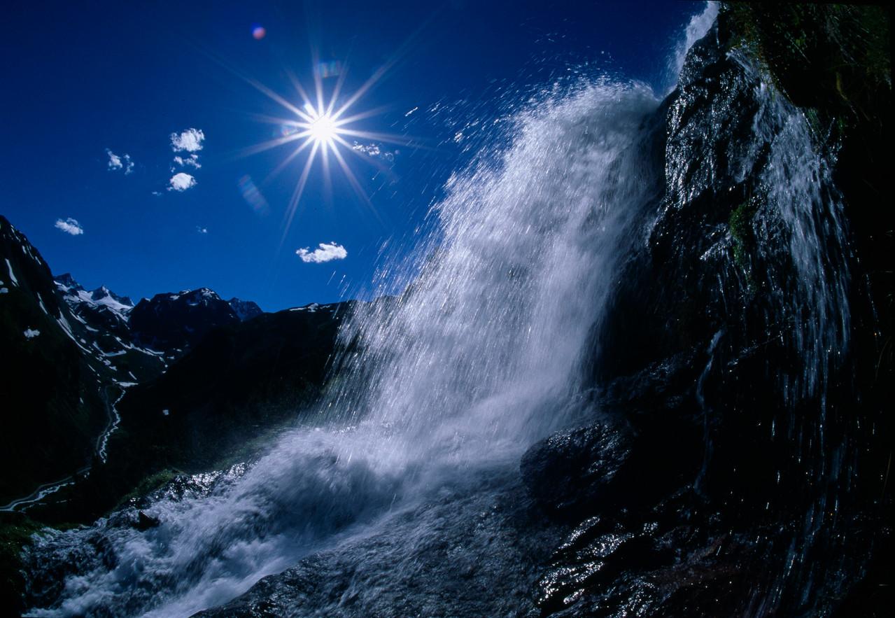Spektakuläre Wasserfälle - Bildarchiv TVB Stubai