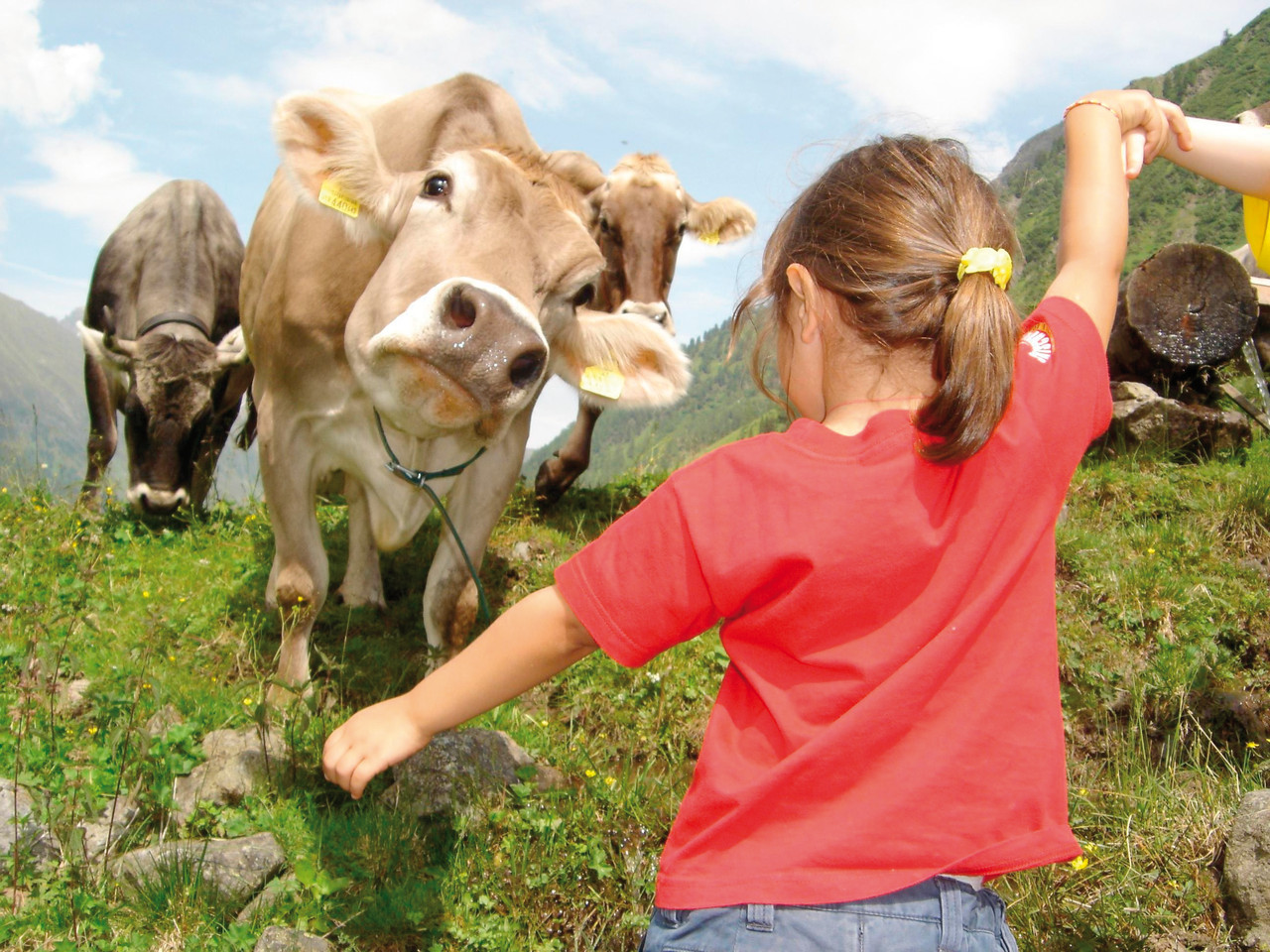 Kinder & Tiere - Bildarchiv TVB Stubai