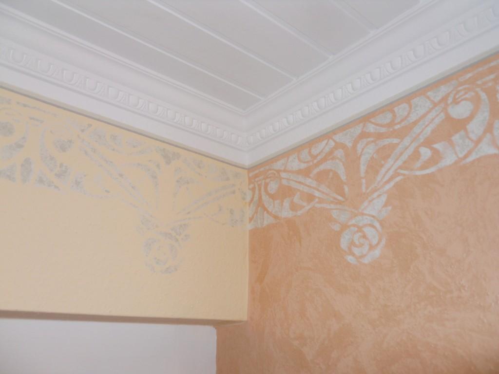 Schlafzimmergestaltung - Schablonenmalerei