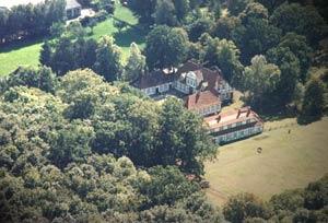 Luftbild vom Jagdschloss Friedrichsmoor