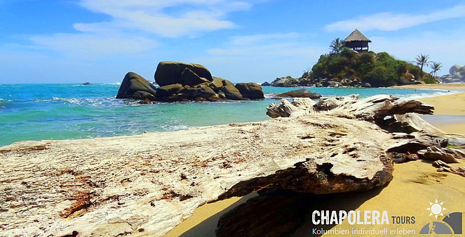 4 Tage Reisebaustein Tayrona Nationalpark (Foto: Strand bei Cabo San Juan de Guia)