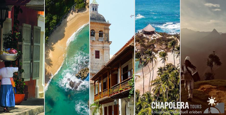 Kolumbien Reiseregion Karibik Küste Cartagena Santa Marta