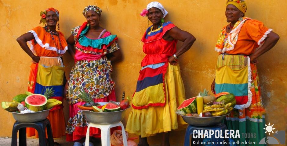 Kolumbien Rundreisen individuell - Individualreisen (Foto: Palenqueras in Cartagena)