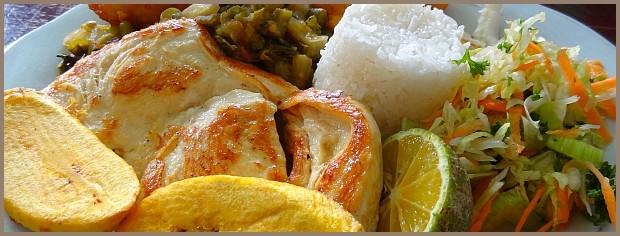 Typisches Mittagessen in Salento - Kaffeezone - Kolumbien