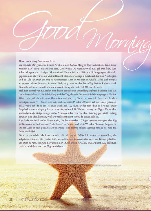 Lichtvoller Start in den Morgen mit einem Guten Morgen* Lichtgebet