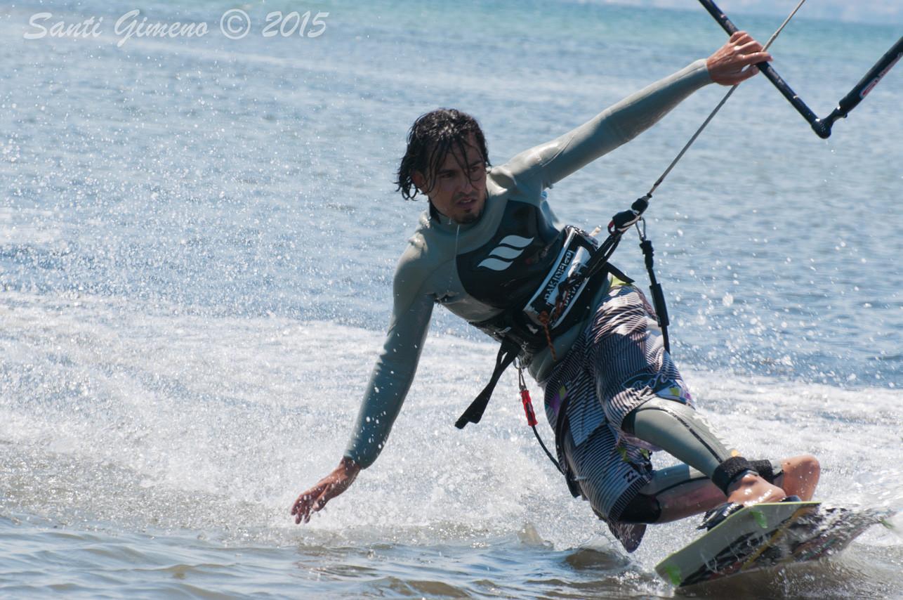 Kite surf al delta de l' Ebre