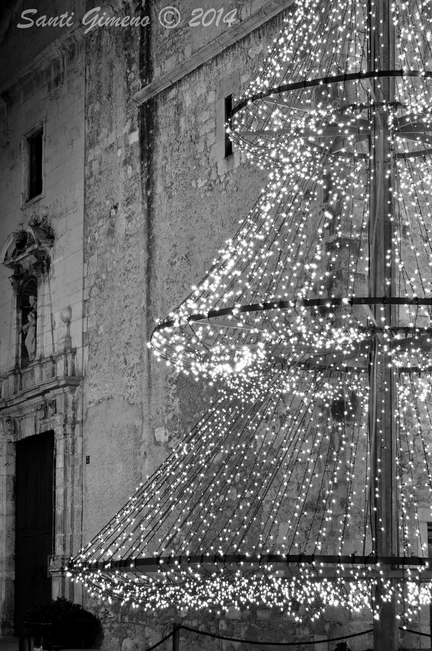 Nadals a la plaça major de La Sénia