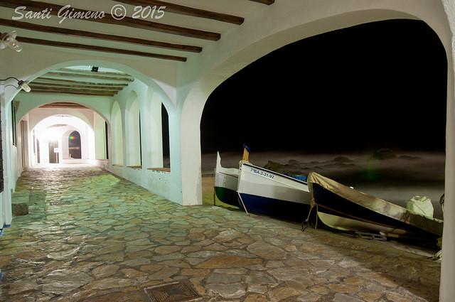 Barques arrecerades del temporal a Calella de Palafrugell