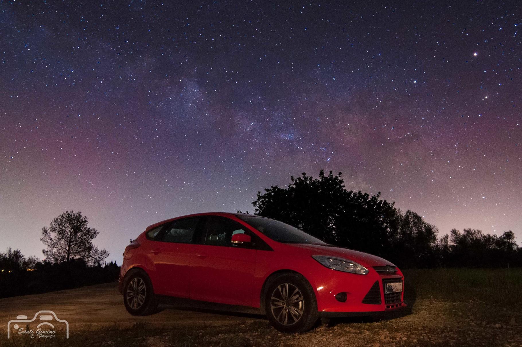 Aquest cotxe no se si anira fins l' infinit i mes enllà, de moment ha arribat al centre galàctic