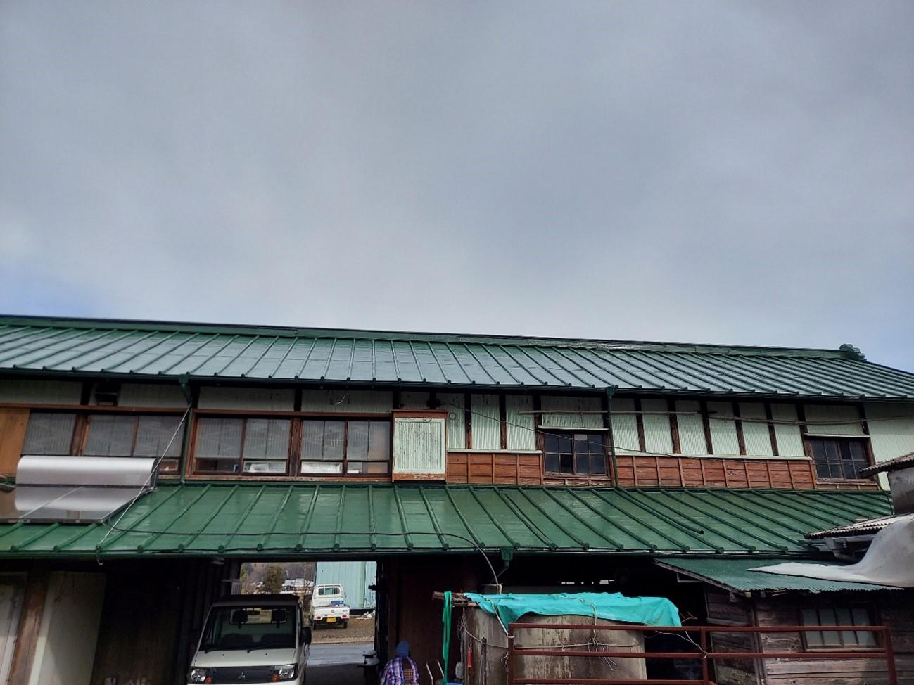 函南町│倉庫屋根塗装工事I様邸 施工実績