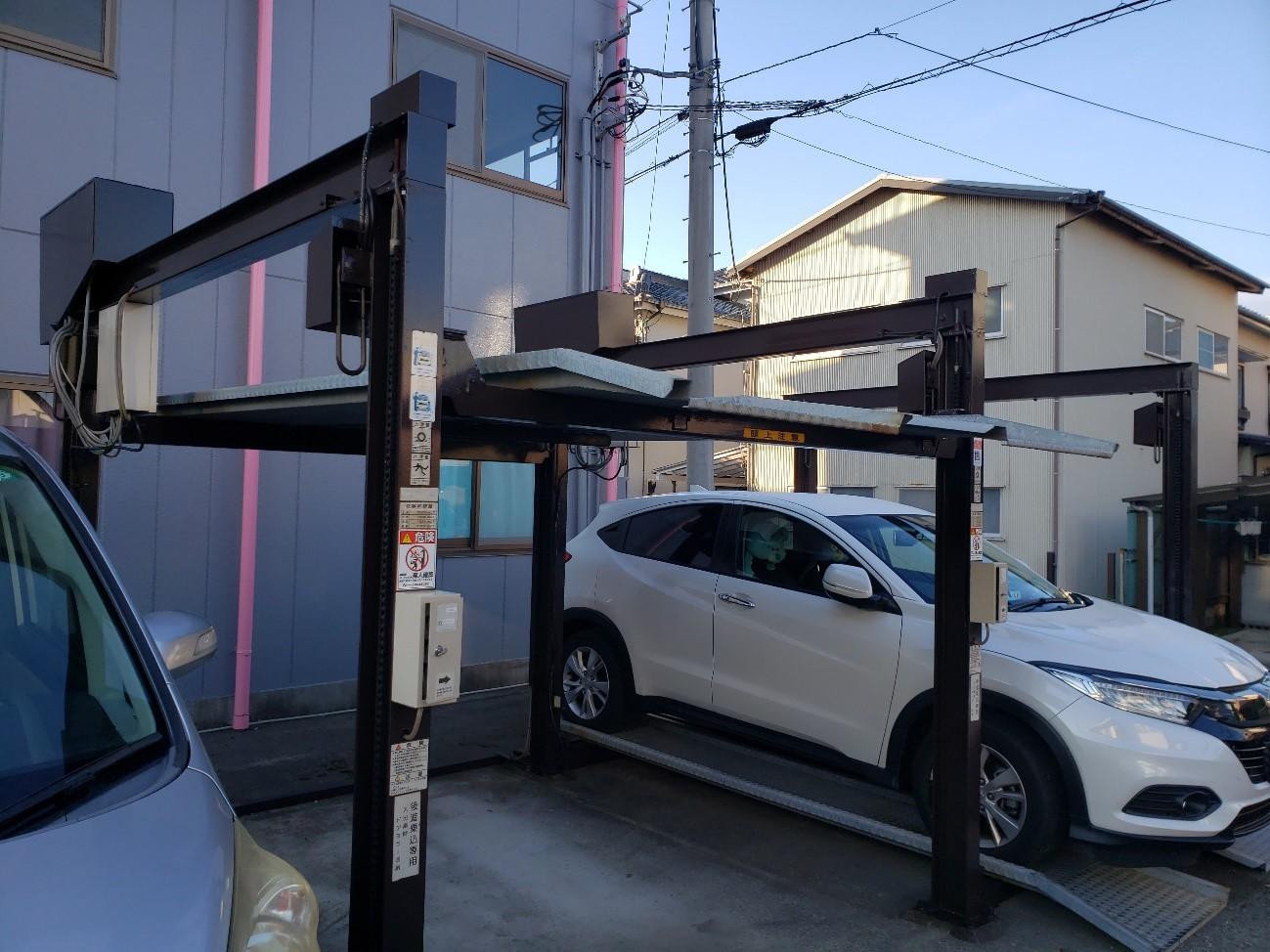 清水町│アパート昇降式駐車場塗装施工実績