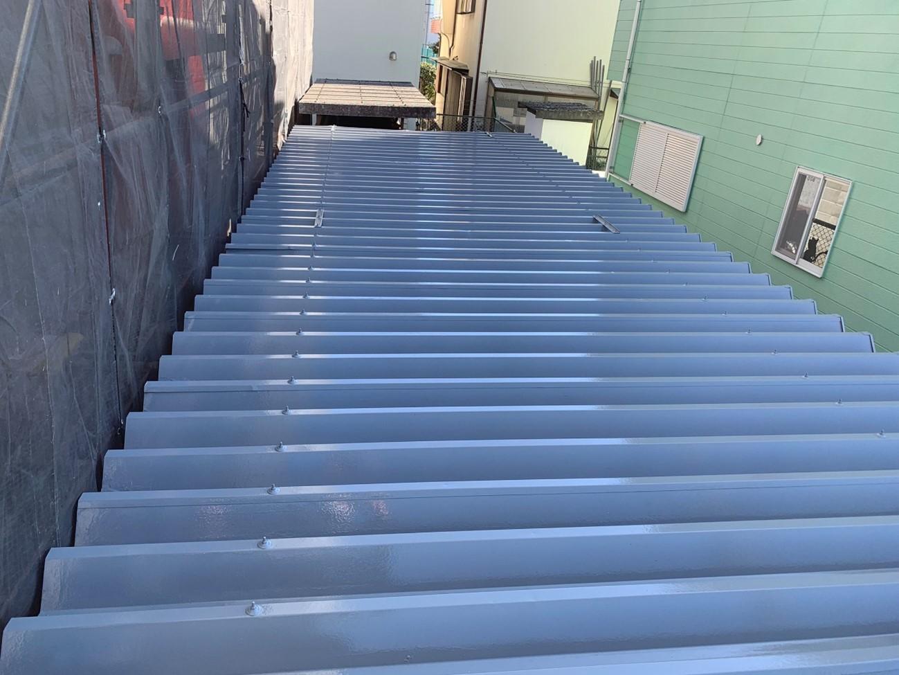函南町│駐輪場屋根塗装工事 施工実績