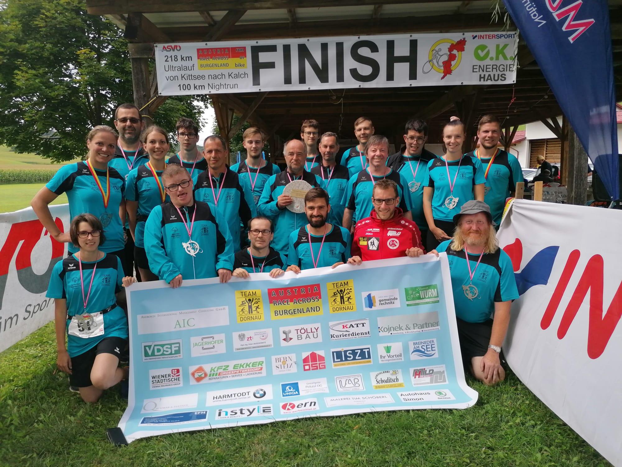 """Team Dornau beim """"Austria Race Across Burgenland"""" in 28 Stunden und 52 Minuten im Ziel"""