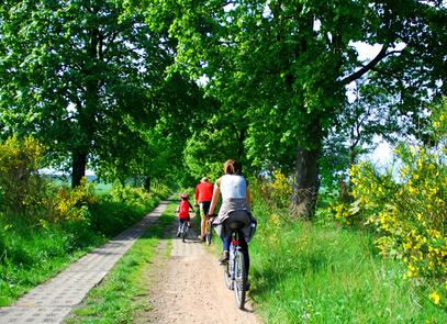 sur les chemins à bicyclette !