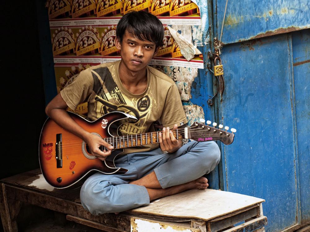 Guitarrista callejero. © Daniel Roca García.