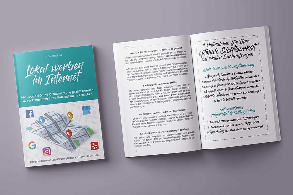 Praxishandbuch, DI Cornelia Kröll, Lokal Werben im Internet - Local SEO und Onlinewerbung für KMU & Selbstständige