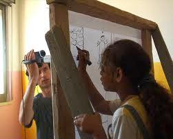"""Tournage  - """"Vidéocartographies : Aïda, Palestine"""" 2008"""
