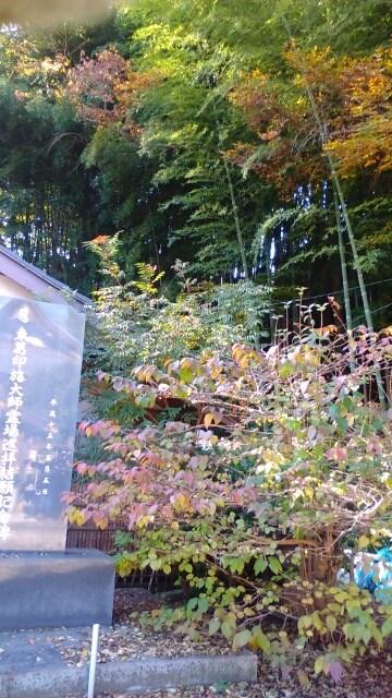 福満寺の竹林が背後に見えます
