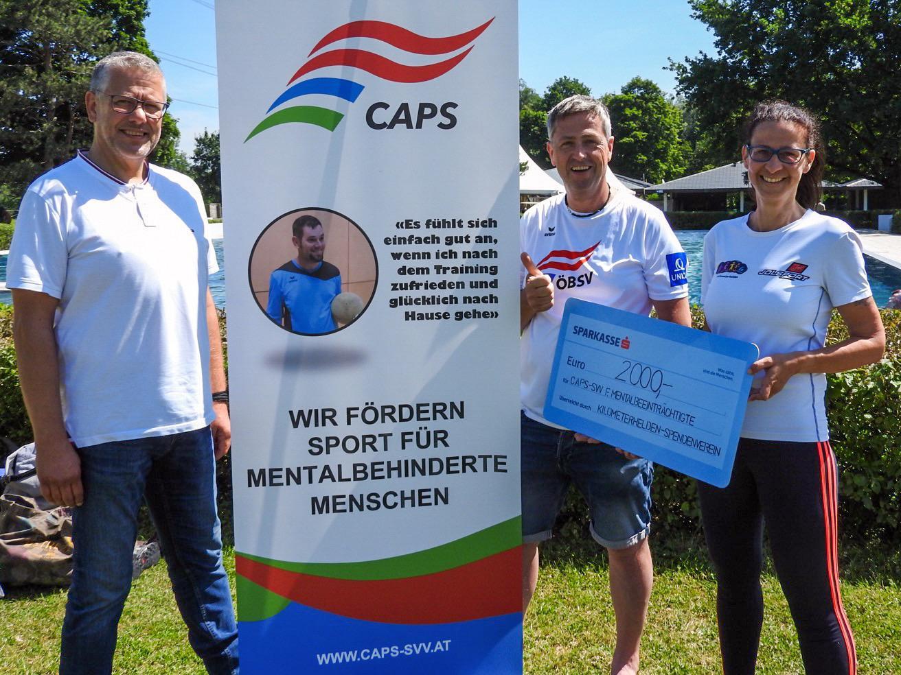 """Kilometerhelden"""" bewegten sich für Sportprojekte des SV CAPS Vorarlberg"""