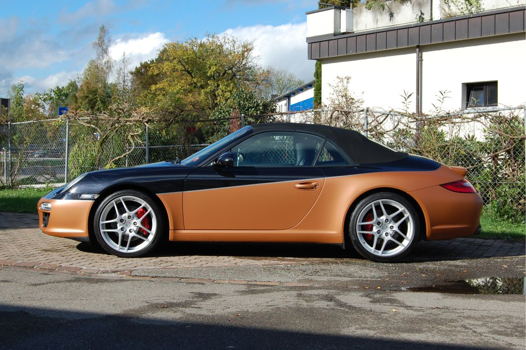 Porsche Carrera S Folierung 3M 1080 M229 Matte Copper Metallic